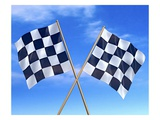 Checkered Flags Giclee Print by Matthias Kulka
