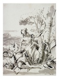 Angelica and Medoro Giclee Print by Domenico Tiepolo