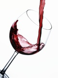 Pouring Red Wine into Wine Glass Photographie par Steve Lupton