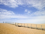 Boardwalk at Chesil Beach in Dorset Photographic Print by Mark Bolton
