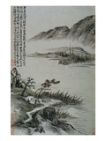 View of Boats at a Riverbank from an Album of Twelve Landscape Paintings Giclee Print by Tao Chi