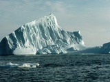 Icebergs in Jones Sound Fotodruck von Brian A. Vikander