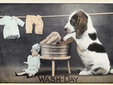 Wash-Day Photographic Print