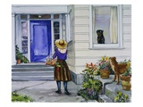 Carl Watching Madeleine's Mother from Carl Makes a Scrapbook Giclee Print by Alexandra Day