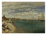 Regatta at Sainte-Adresse Giclee Print by Claude Monet