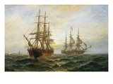 A Frigate Outward Bound Off Shoeburyness Premium Giclee Print by Claude T. Stanfield Moore