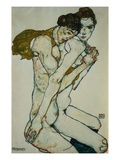 Amitié Reproduction procédé giclée par Egon Schiele