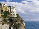 Houses on Sea Cliff in Manarola Photographic Print by John &amp; Lisa Merrill