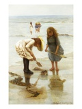 Playing on the Beach Giclee Print by Thomas Liddall Armitage