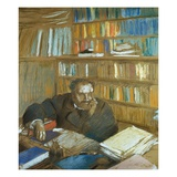 Portrait of Edmond Duranty Giclee Print by Edgar Degas
