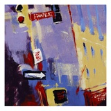 Spring Street Signage Giclee Print by Patti Mollica