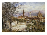 Florence, the Duomo from the Mozzi Garden Giclee Print by Henry Roderick Newman