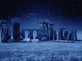 Stonehenge at Night Fotografie-Druck von M. Dillon