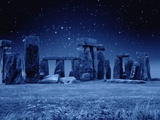 Stonehenge at Night Lámina fotográfica por M. Dillon