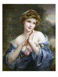 A Summer Rose Giclee Print by Francois Martin-kavel