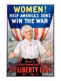 Women! Help America's Sons Win the War Giclee Print by R.H. Porteous
