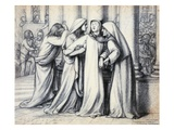 The Virgin Mary Being Comforted Giclee Print by Dante Gabriel Rossetti