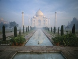 Taj Mahal and Reflecting Pools Photographic Print by Macduff Everton