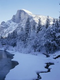 Merced River and Half Dome in Winter Photographic Print by James Randklev