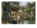 The Japanese Tea House Giclee Print by Harry Humphrey Moore