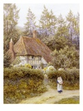 Pine Tree Cottage Giclee Print by Helen Allingham