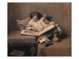 The Picture Book Giclee Print by Eastman Johnson