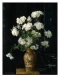 Alberta Binford McCloskey - Chrysanthemums in an Oriental Vase Digitálně vytištěná reprodukce