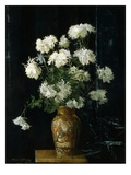 Chrysanthemums in an Oriental Vase Giclee Print by Alberta Binford McCloskey