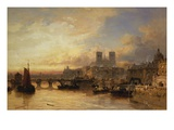 A View of Paris, France Reproduction procédé giclée par James Webb