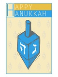Happy Hanukkah, with a Dreidel Giclee Print by Steve Collier