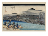 Cool of the Evening at Shijo Riverbed Giclee Print by Utagawa Hiroshige