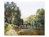 A Summer's Day on the River Giclee Print by Emile Cagniart