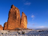 Courthouse Towers Rock Formation Photographic Print by Tom Brakefield
