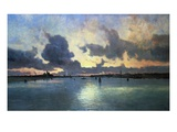 Sunset on the Laguna, Venice, Italy Giclee Print by Marie Joseph Iwill