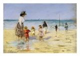 Going for a Paddle Giclee Print by Emile Cagniart