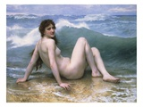 La vague Reproduction procédé giclée par William Adolphe Bouguereau