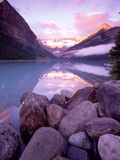 Morning Sky Reflecting In Lake Louise Photographic Print by Gavriel Jecan