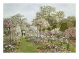 The Rose Garden, Clandon Park, Surrey, England Premium Giclee Print by Thomas H. Hunn