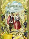 Thanksgiving with Two Pilgrims Photographic Print