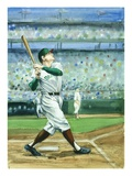 A Baseball Player at Bat from Frank and Ernest Play Ball Giclee Print by Alexandra Day