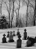 Grave Markers in Snow Photographic Print by Brian Cencula
