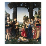 Adoration of the Shepherds Giclee Print by Lorenzo di Credi