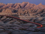 Car Traveling Through Badlands National Park Photographic Print by Layne Kennedy