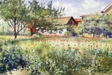 A Swedish Landscape with Poppies Giclee Print by Johan Erik Ericson