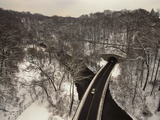 Highway Crossing a Creek Photographic Print by Richard Nowitz