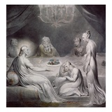 Christ in the House of Martha and Mary Giclée-Druck von William Blake