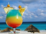 Tropical Drink Before Beach and Ocean Photographic Print by Jack Hollingsworth