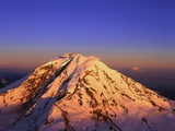 Snow Covered Top of Mount Rainier Photographic Print