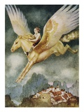 Little Rider from the Way-Away Land Giclee Print by Gustaf Tenggren