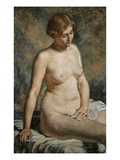 Seated Nude Woman Giclee Print by Theo van Rysselberghe
